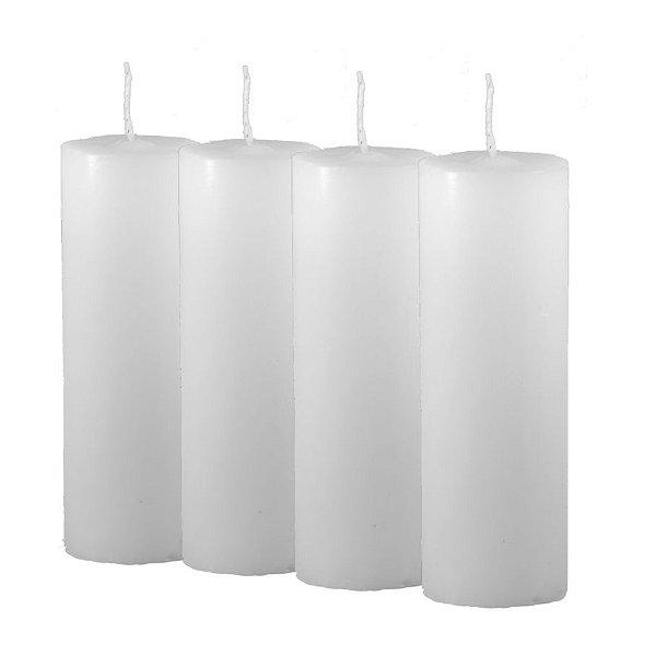 Pacote c/4 Velas Tipo 7 Dias Branca (Luzart)