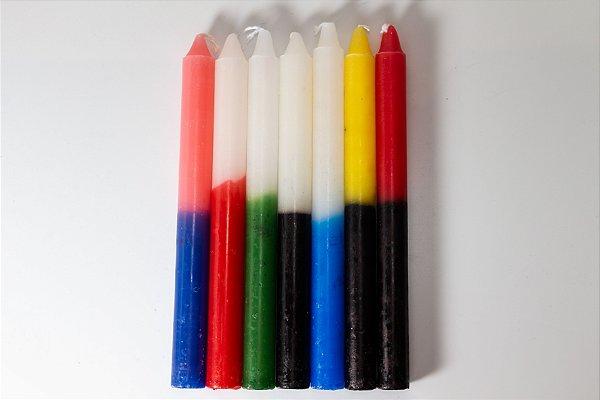 Vela Palito Premium Bicolor (N°5) - 1 Quilo (Média 33 velas)
