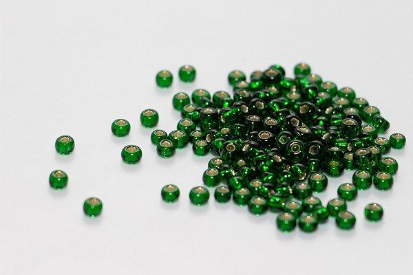 Miçanga Transparente Verde
