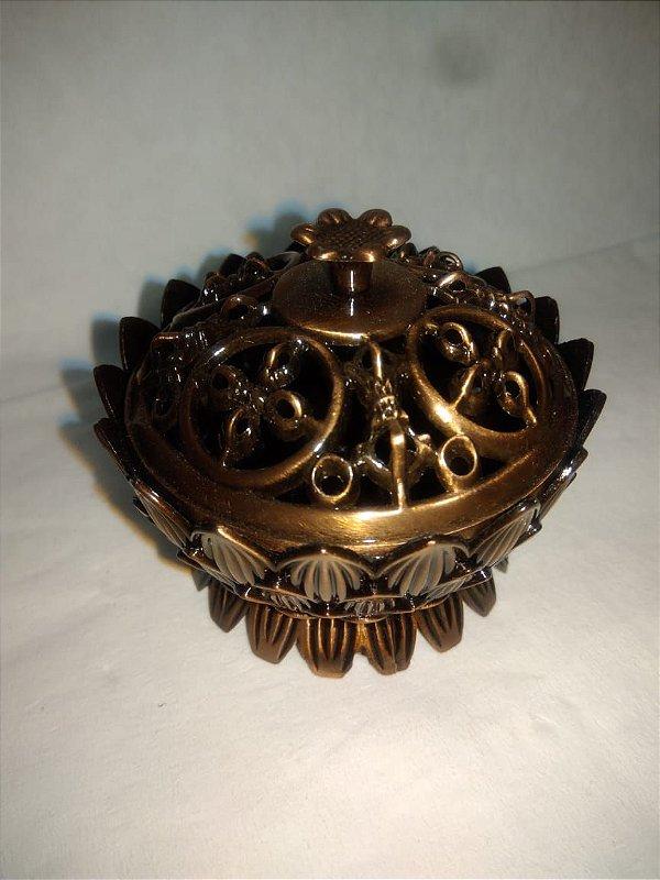 Incensário Flor de Lótus em metal - Pequeno