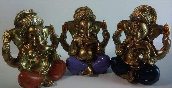 Figura Ganesha - Colorido - 5cm
