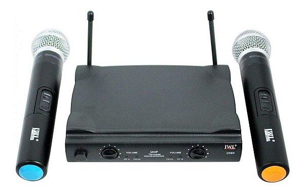 Microfone SEM FIO Duplo de mão  UHF U-585