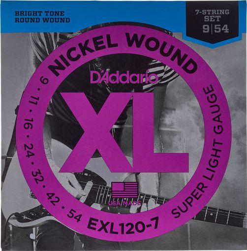 Encordoamento D'addario Corda EXL120-B