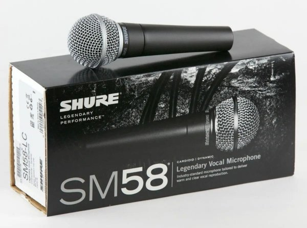 Microfone Shure SM58  + Brinde