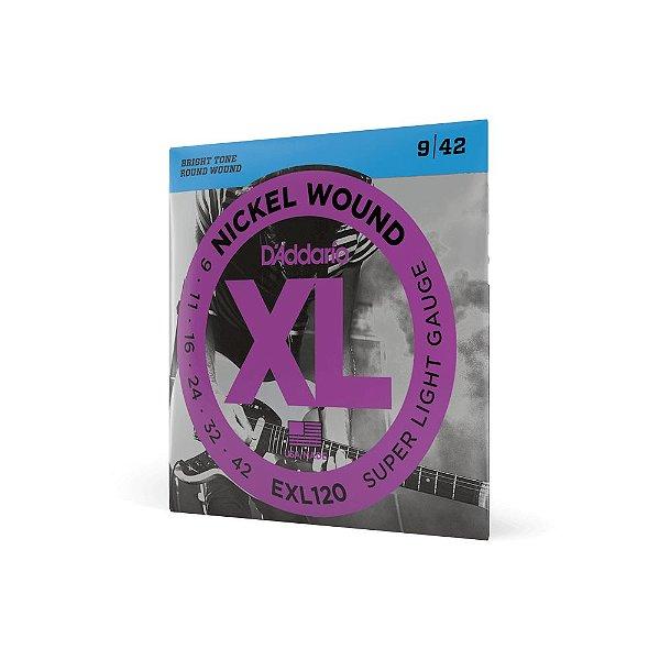 Encordoamento guitarra  EXL120-B SuperLight .009 .042 Corda Extra PL009