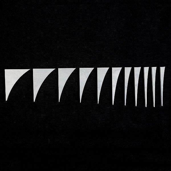 Marcações Dente de Tubarão (Inlay) 1 ponta - Pearloid branco