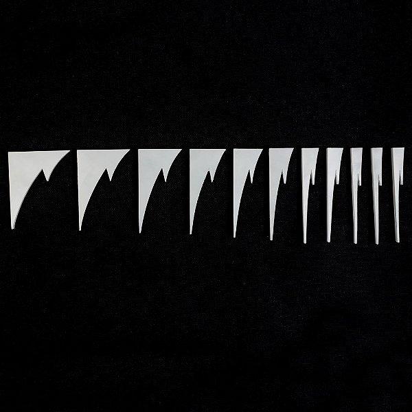 Marcações Dente de Tubarão (Inlay) 2 pontas - Pearloid branco