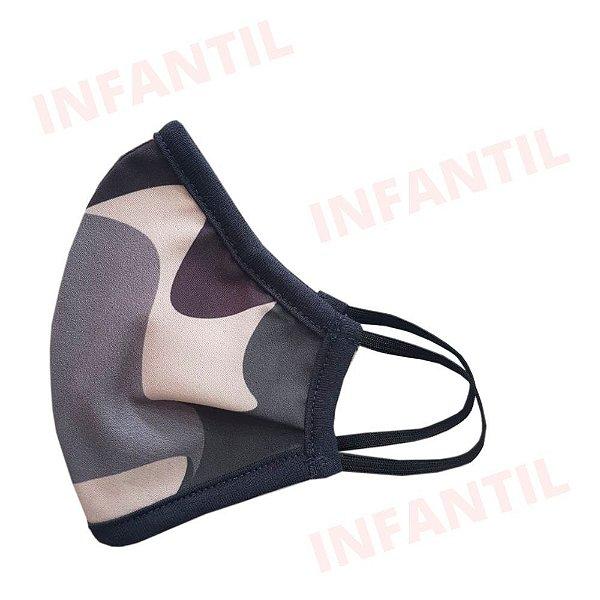 Máscara de Tecido Camuflada Infantil com Elástico