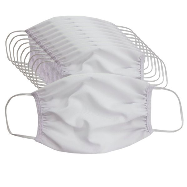 Kit com 10 Máscaras de Tecido Faciais - Cor Branca