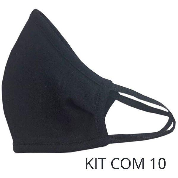 Kit 10 Máscaras de Tecido Ninja Anatômica de Elástico 100% Algodão - Com Ajuste Nasal