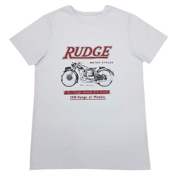 Camiseta Branca estampa Motocycle (Brinde Máscara)