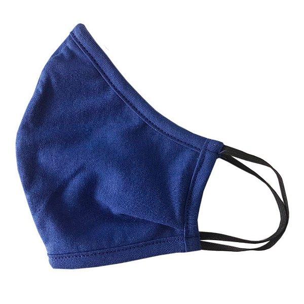 Máscara de Tecido Anatômica de Elástico - Azul Royal