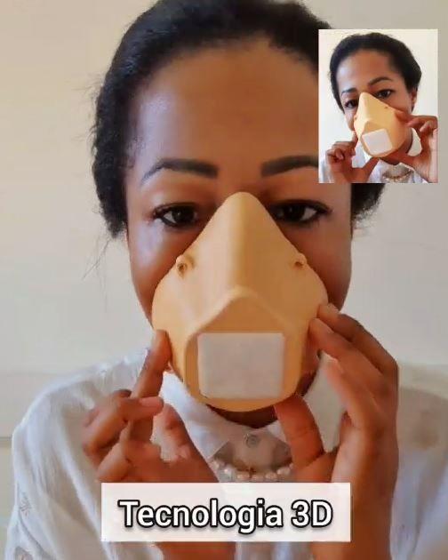 Máscara facial 3D