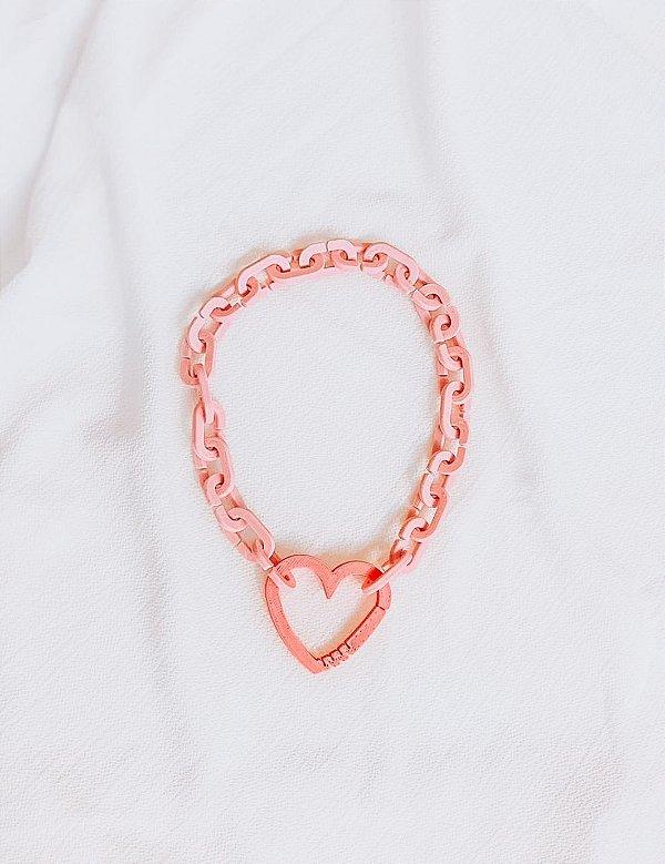 Colar Elos 3D Coração