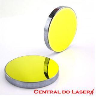 Espelho dourado de 25mm -Para máquinas de corte e gravação a laser.