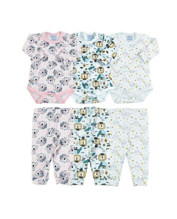 Conjunto Bebê Calça e Body Térmico Estampado