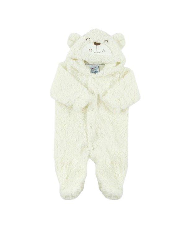 Macacão Bebê Ursinho de Pelucia Offwhite