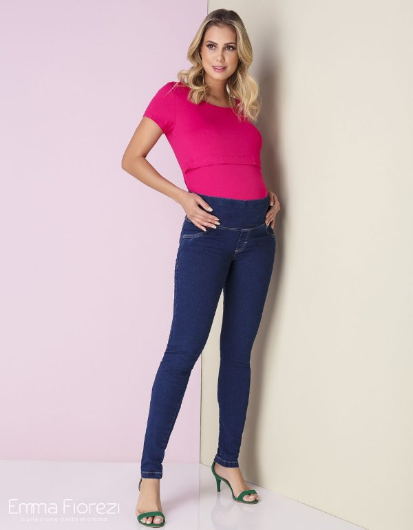 Calça Gestante Jeans Skinny Emma