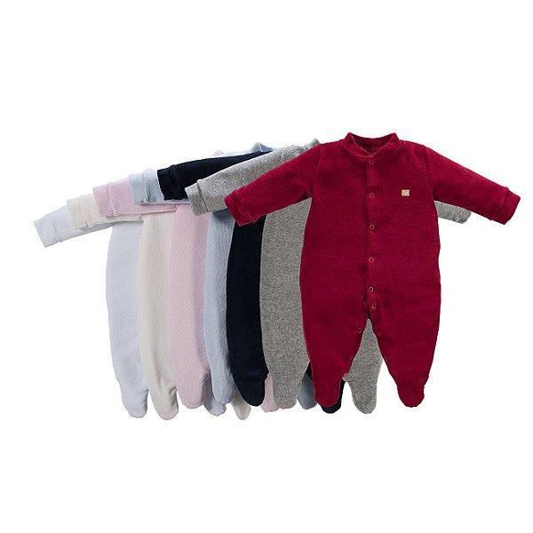 Macacão Bebê Básico em Plush