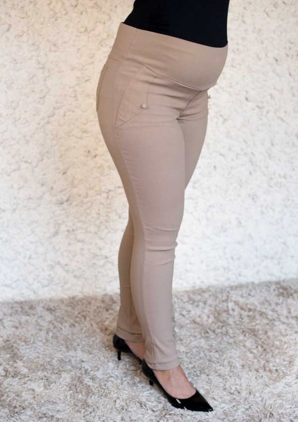 Calça Gestante Skinny Dora Super Strech Caramelo
