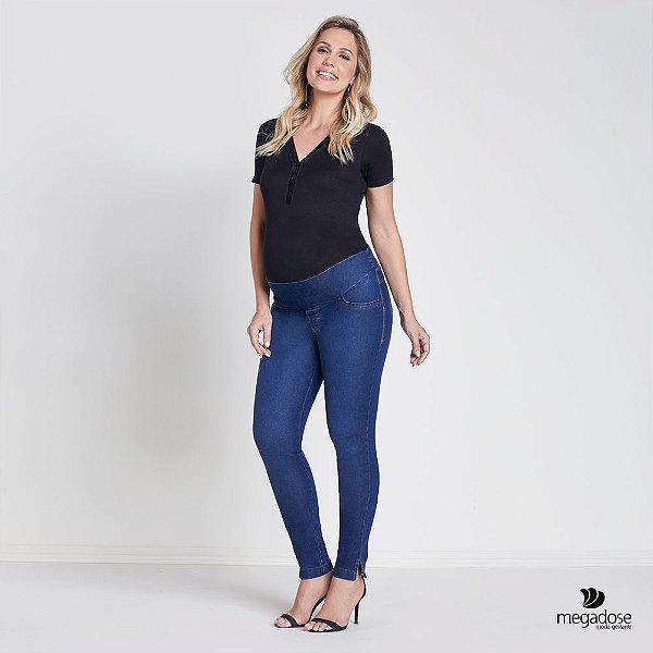 Calça Jeans Gestante Skinny Angelica