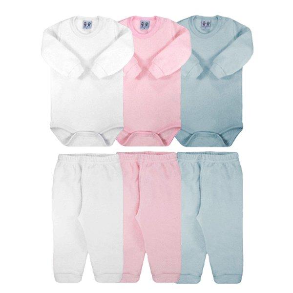 Conjunto Bebê Body e Calça Soft Glacê