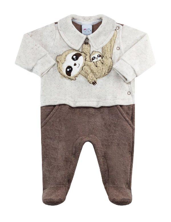 Macacão Bebê Inverno Bicho Preguiça