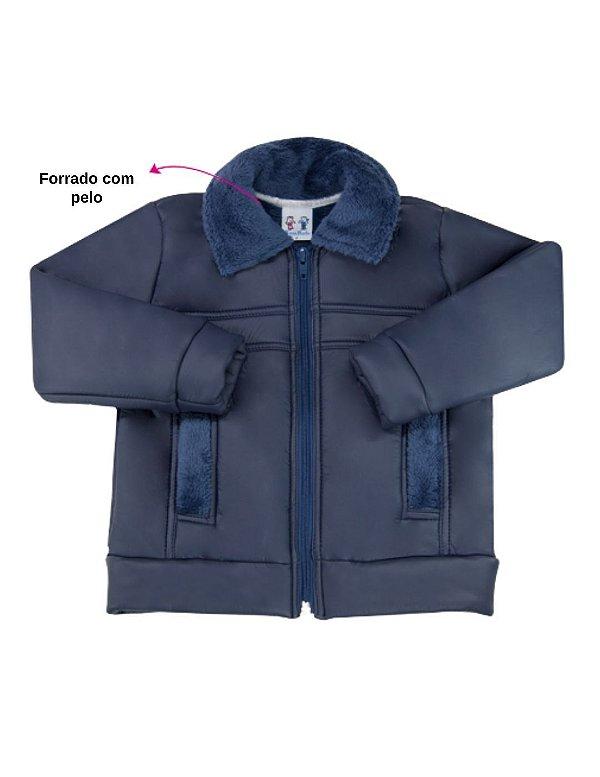 Jaqueta inverno forrada marinho
