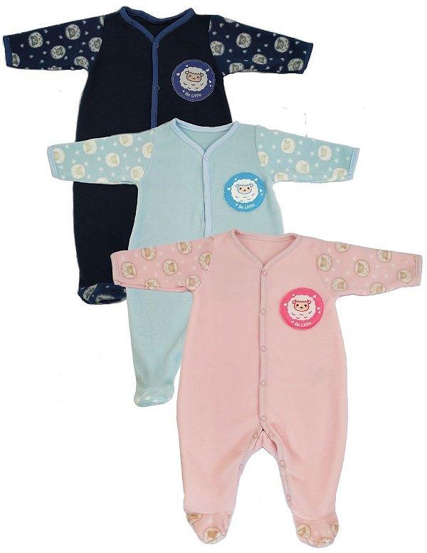 Macacão Pijama Bebê Microsoft Ovelhinhas