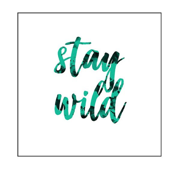 QUADRO DECORATIVO - STAY WILD