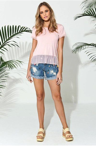 Short Jeans Bordados Lindos