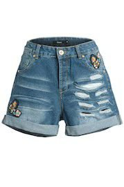 Short Jeans Boy Patch Floral