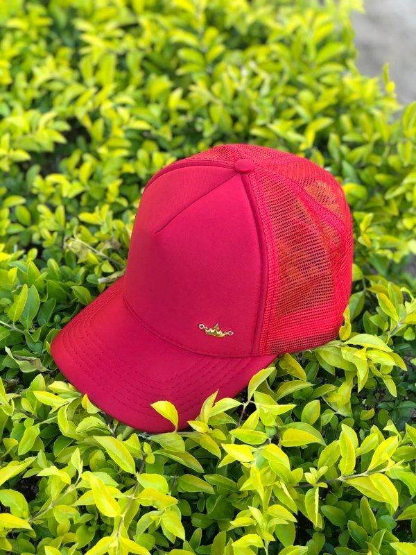 Boné telado vermelho
