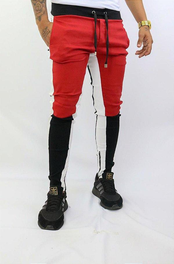 Calça estilo vermelha