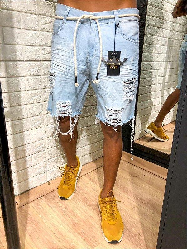 Bermuda curta jeans Casaquistão