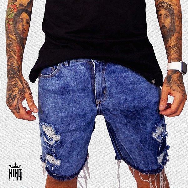 Bermuda curta jeans Congo