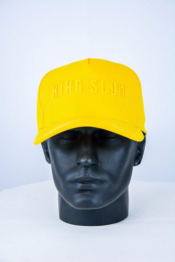 Boné aba curva amarelo