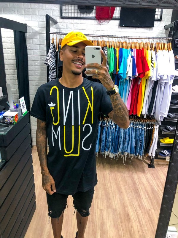 Blusa estampa king amarela