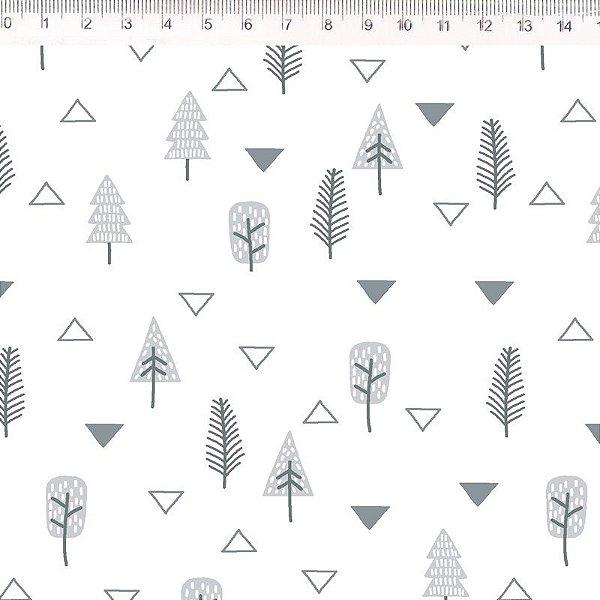 Tecido Árvores Branco ES025C01