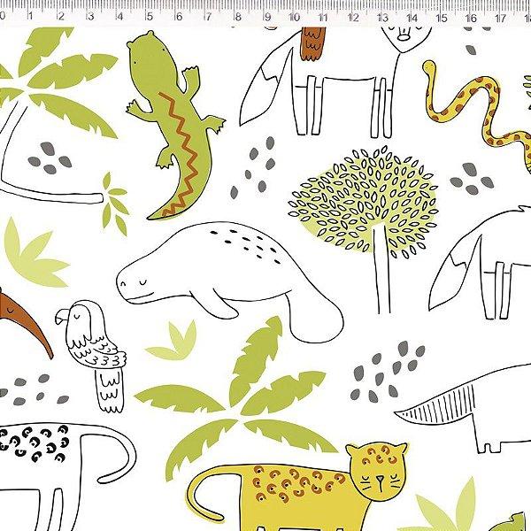Tecido Fauna Onça Pintada ES027C01