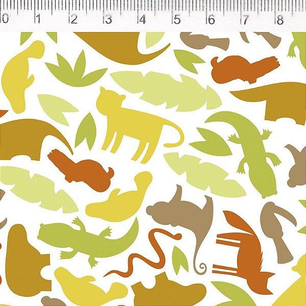 Tecido Fauna Folhas ES029C01
