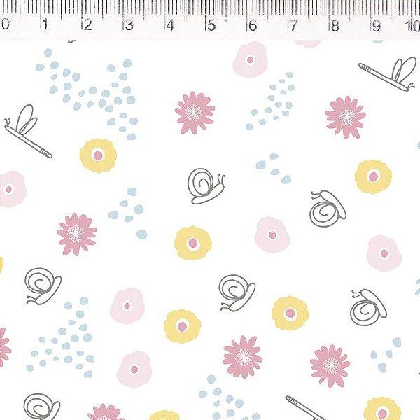 Tecido Flores Pequenas ES037C01