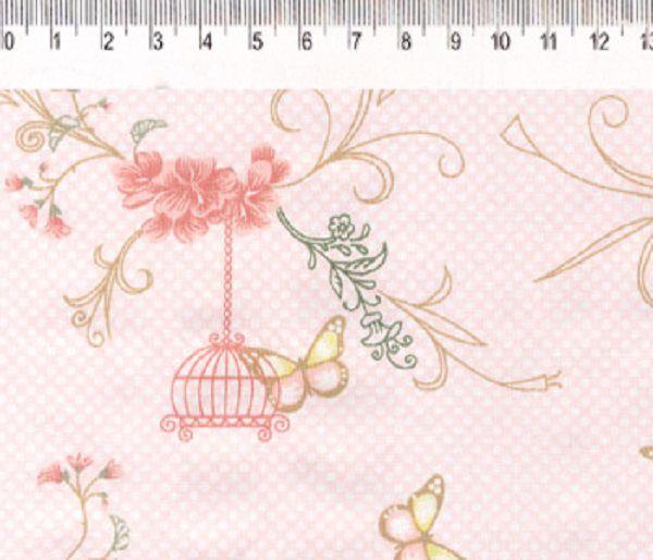 Tecido Infantário Gaiolas Rosa VG013C01