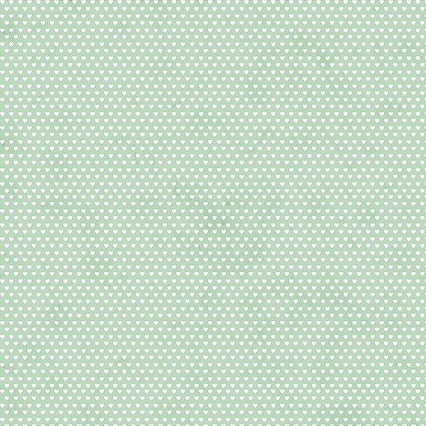 Tecido Mini Corações Verde Claro 6208 50x150