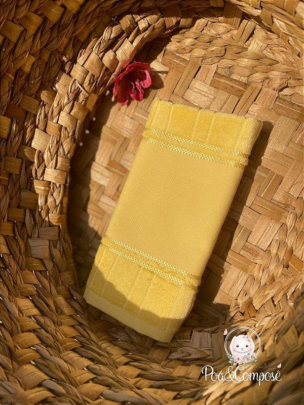 Toalha de Lavabo Dohler Amarelo (Faixa Pinte e Borde)