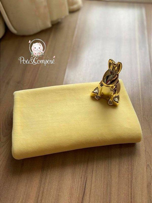 Plush cor Amarelo Bebê 80x80