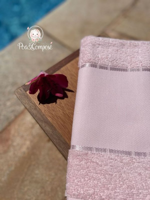 Toalha de Lavabo Multi Art III Rosa (Faixa Pinte e Borde)