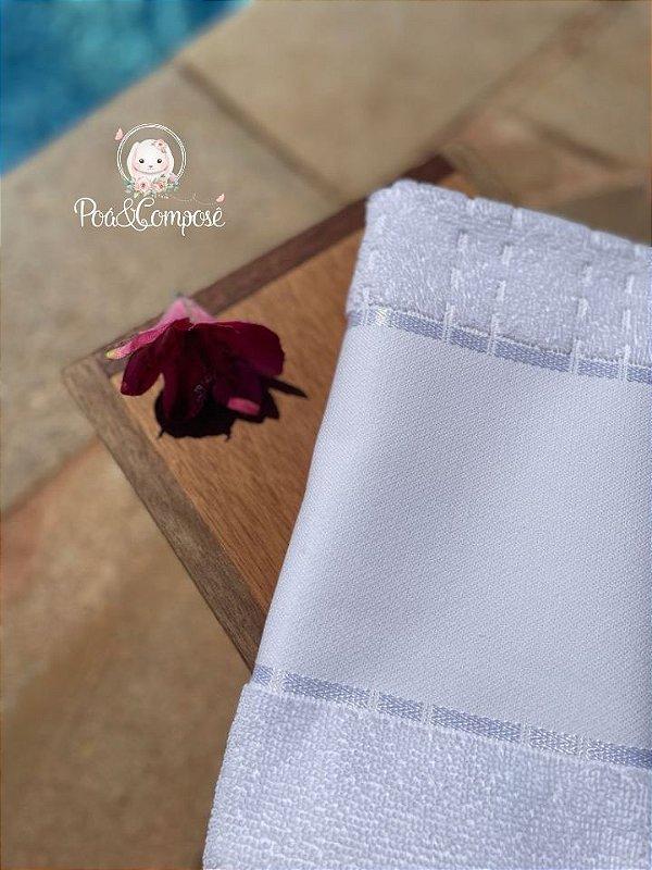 Toalha de Rosto Multi Art III Branco (Faixa Pinte e Borde)