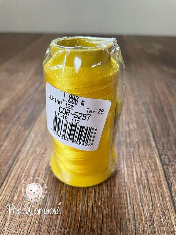 Linha de Bordar Lumina Amarelo Ouro cor 5297