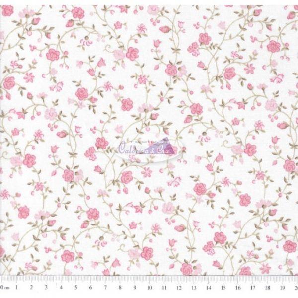 Tecido Floral Marina Rosa (Cor 62)